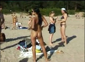 Depraved teen nudists take off their..