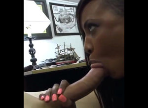 Teenager black call girl gives suck..