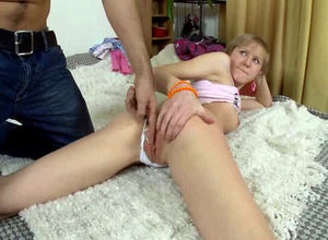 Shameless little girl gets her rear..