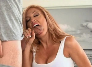 A steaming milf instruct virgin duo..