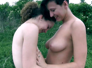 2 girly-girl maiden teenager out for a..