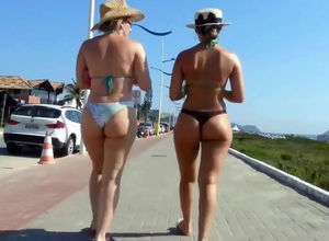 Candid latin beach young womans and..