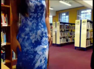 Was caught bare in the school library
