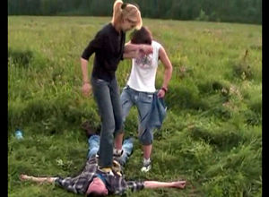 Ukrainian maidens stomp a stud who..