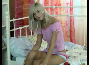 This bare teenage showcases her..